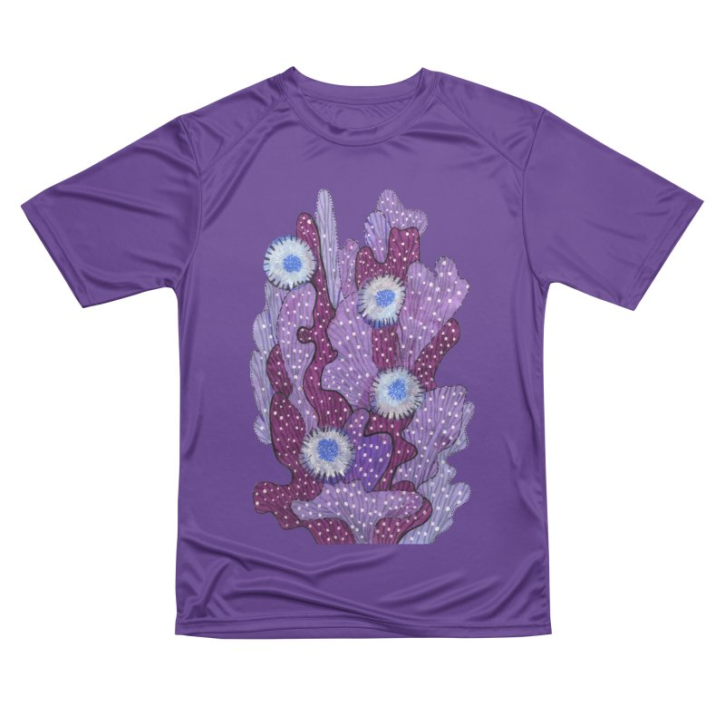 Blooming Cactus, Succulent Flowers, Purple Violet Men's T-Shirt by Clipso-Callipso