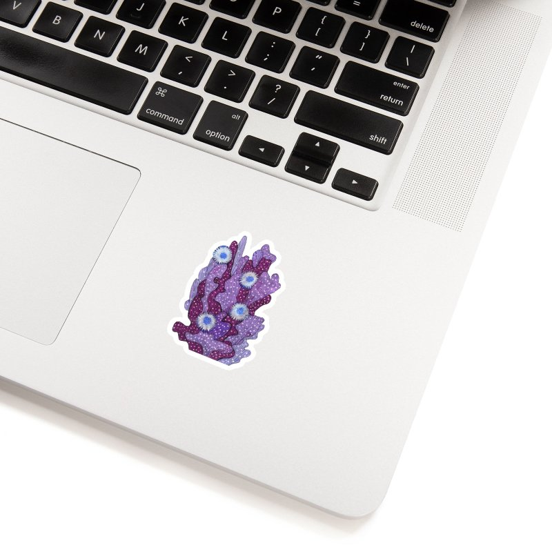 Blooming Cactus, Succulent Flowers, Purple Violet Accessories Sticker by Clipso-Callipso