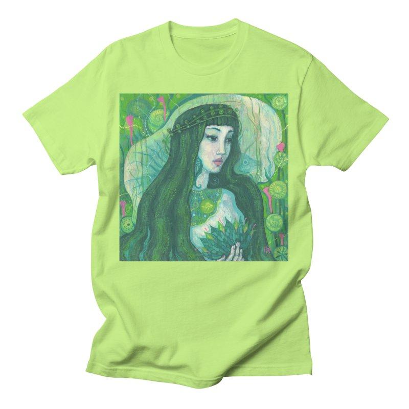 Green Mermaid, Fantasy Art, Surreal Portrait Men's T-Shirt by Clipso-Callipso