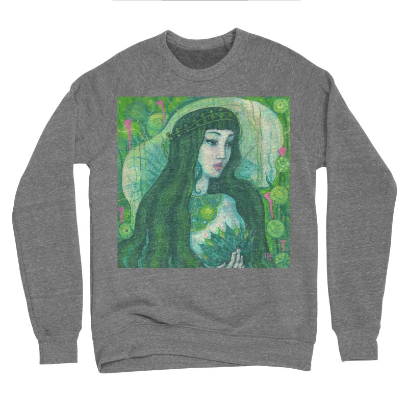 Green Mermaid, Fantasy Art, Surreal Portrait Men's Sweatshirt by Clipso-Callipso