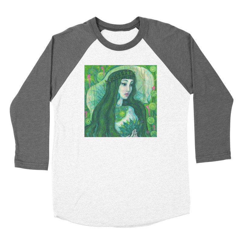 Green Mermaid, Fantasy Art, Surreal Portrait Women's Longsleeve T-Shirt by Clipso-Callipso