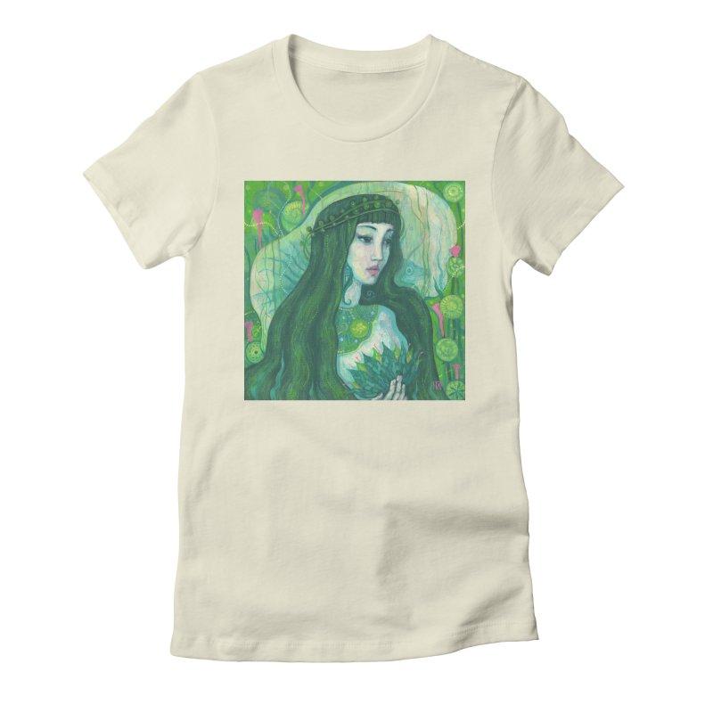 Green Mermaid, Fantasy Art, Surreal Portrait Women's T-Shirt by Clipso-Callipso