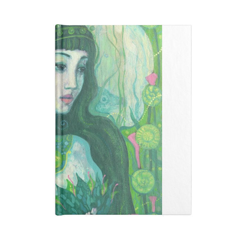 Green Mermaid, Fantasy Art, Surreal Portrait Accessories Notebook by Clipso-Callipso