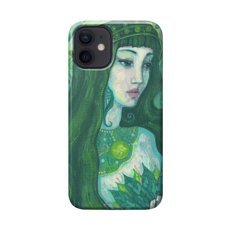 Green Mermaid, Fantasy Art, Surreal Portrait Accessories Phone Case by Clipso-Callipso
