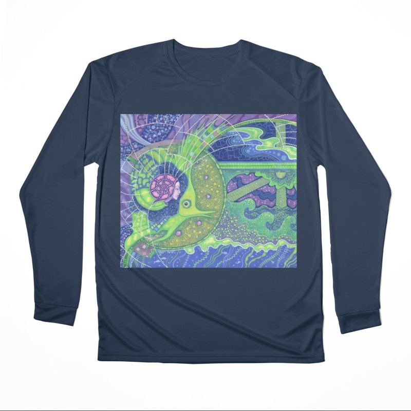 Dream Of the Fullmoon, Surreal Nautical, Fantasy Art Women's Longsleeve T-Shirt by Clipso-Callipso