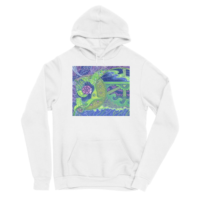 Dream Of the Fullmoon, Surreal Nautical, Fantasy Art Women's Pullover Hoody by Clipso-Callipso