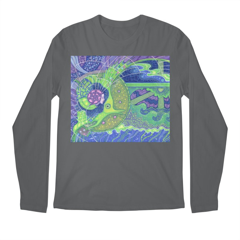 Dream Of the Fullmoon, Surreal Nautical, Fantasy Art Men's Longsleeve T-Shirt by Clipso-Callipso