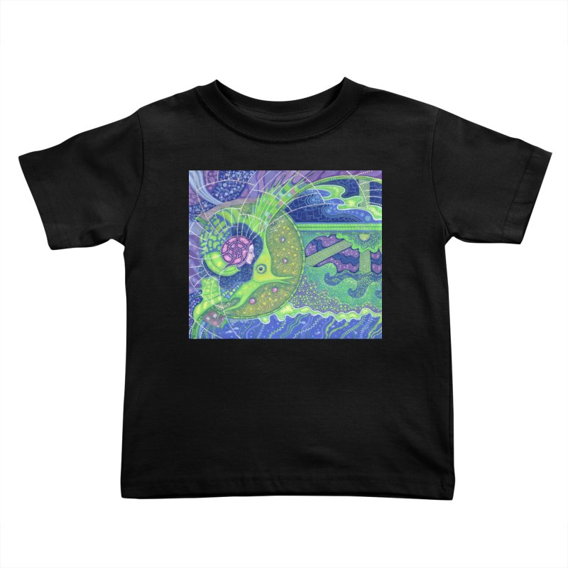 Dream Of the Fullmoon, Surreal Nautical, Fantasy Art Kids Toddler T-Shirt by Clipso-Callipso
