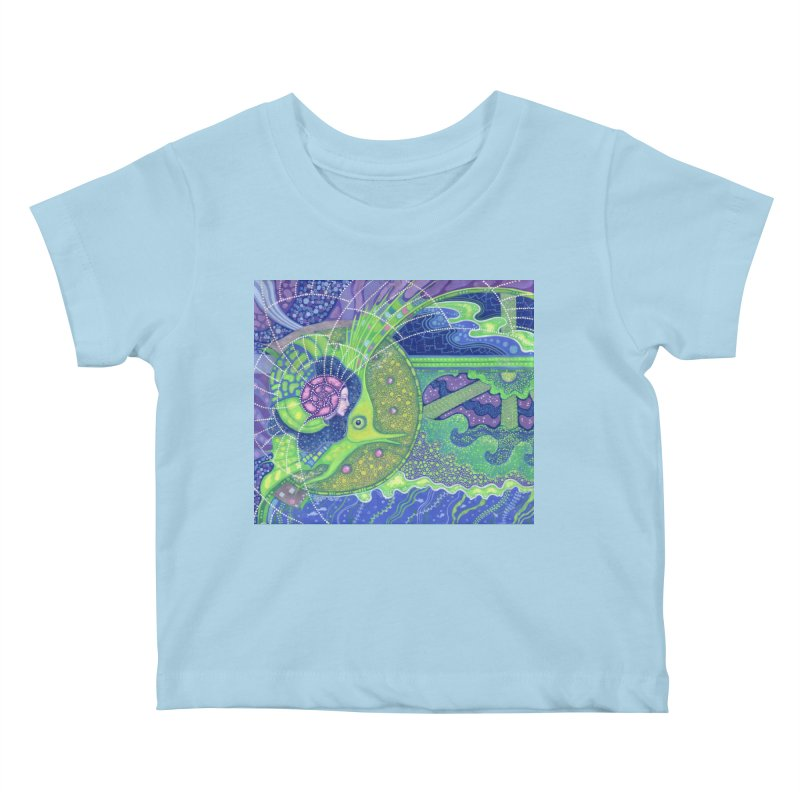 Dream Of the Fullmoon, Surreal Nautical, Fantasy Art Kids Baby T-Shirt by Clipso-Callipso