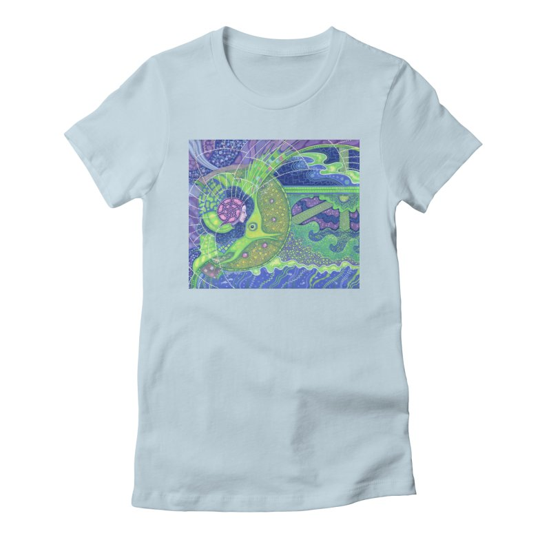 Dream Of the Fullmoon, Surreal Nautical, Fantasy Art Women's T-Shirt by Clipso-Callipso