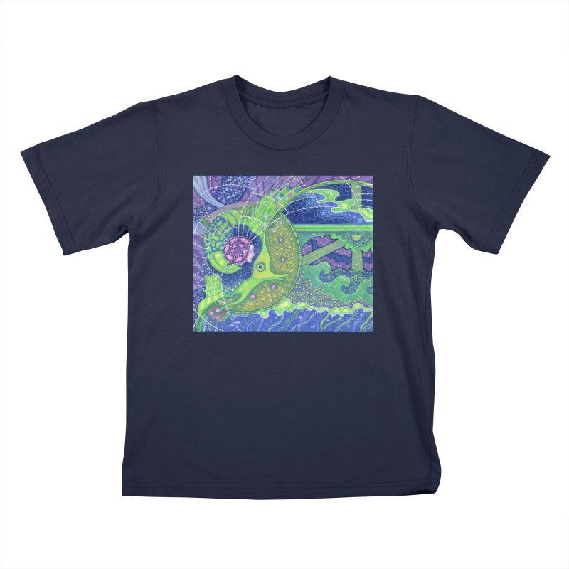 Dream Of the Fullmoon, Surreal Nautical, Fantasy Art Kids T-Shirt by Clipso-Callipso
