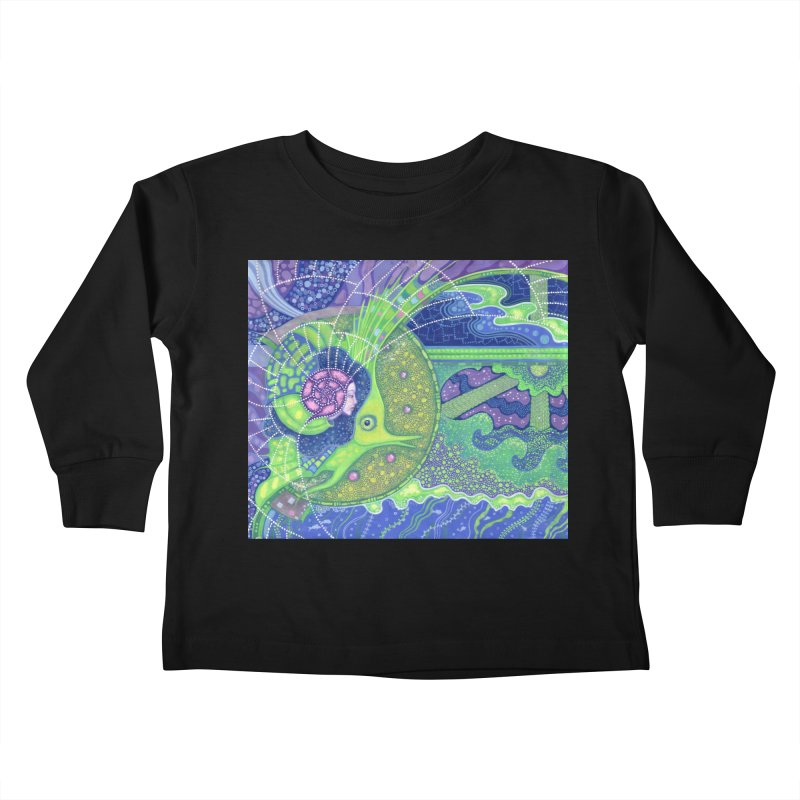 Dream Of the Fullmoon, Surreal Nautical, Fantasy Art Kids Toddler Longsleeve T-Shirt by Clipso-Callipso