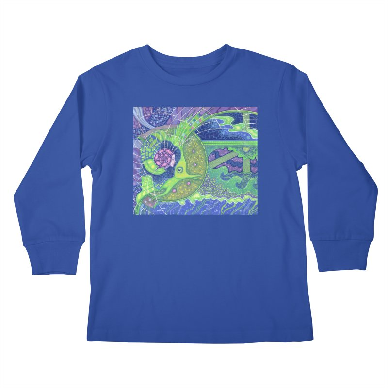 Dream Of the Fullmoon, Surreal Nautical, Fantasy Art Kids Longsleeve T-Shirt by Clipso-Callipso