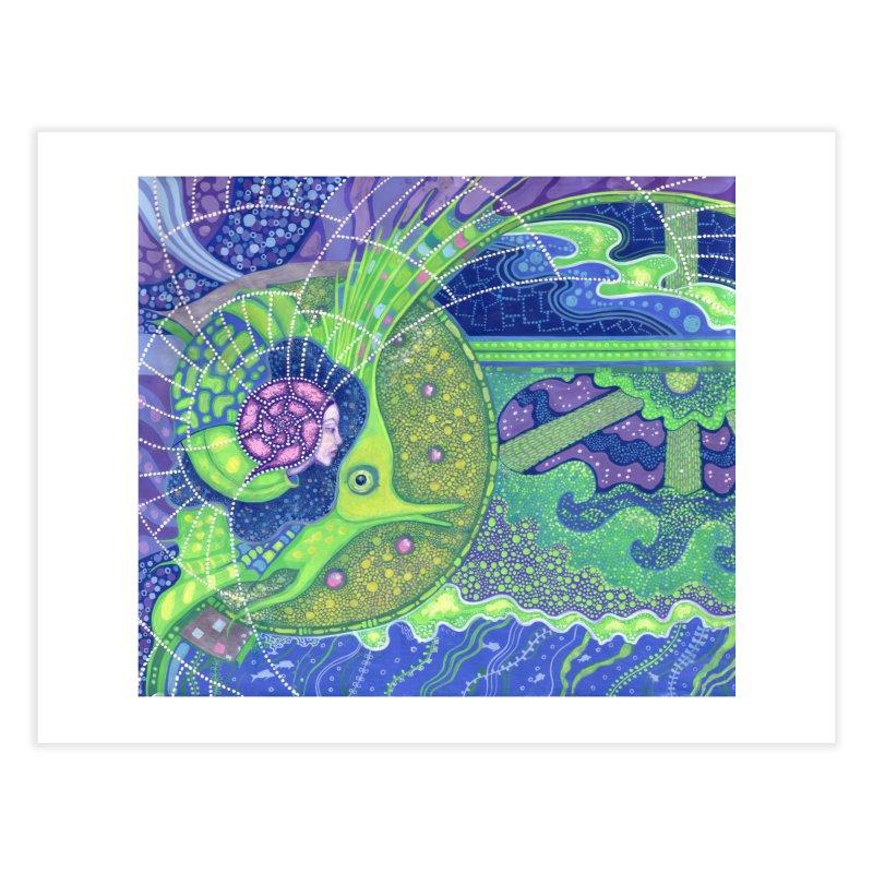 Dream Of the Fullmoon, Surreal Nautical, Fantasy Art Home Fine Art Print by Clipso-Callipso