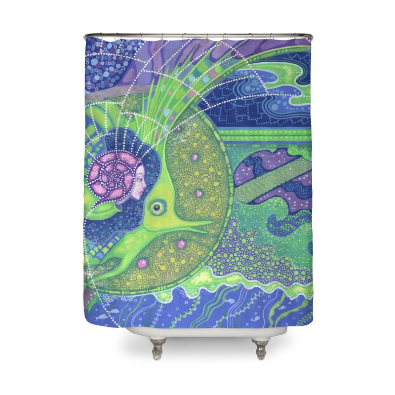 Dream Of the Fullmoon, Surreal Nautical, Fantasy Art Home Shower Curtain by Clipso-Callipso