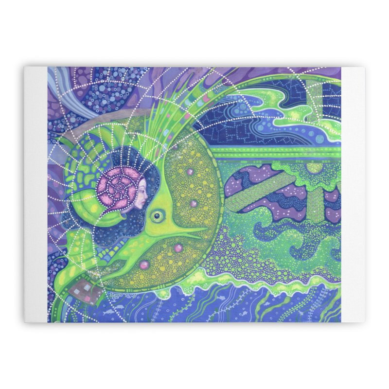 Dream Of the Fullmoon, Surreal Nautical, Fantasy Art Home Stretched Canvas by Clipso-Callipso