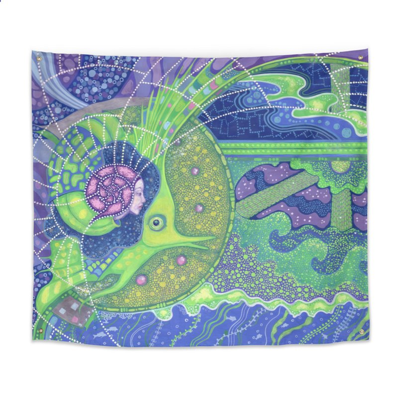 Dream Of the Fullmoon, Surreal Nautical, Fantasy Art Home Tapestry by Clipso-Callipso
