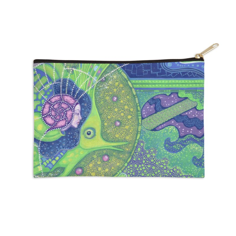 Dream Of the Fullmoon, Surreal Nautical, Fantasy Art Accessories Zip Pouch by Clipso-Callipso