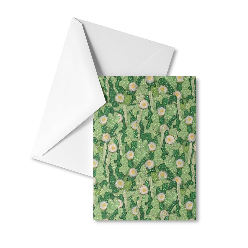 Cacti Camo, Blooming Cactus, Succulent Floral Pattern Accessories Greeting Card by Clipso-Callipso