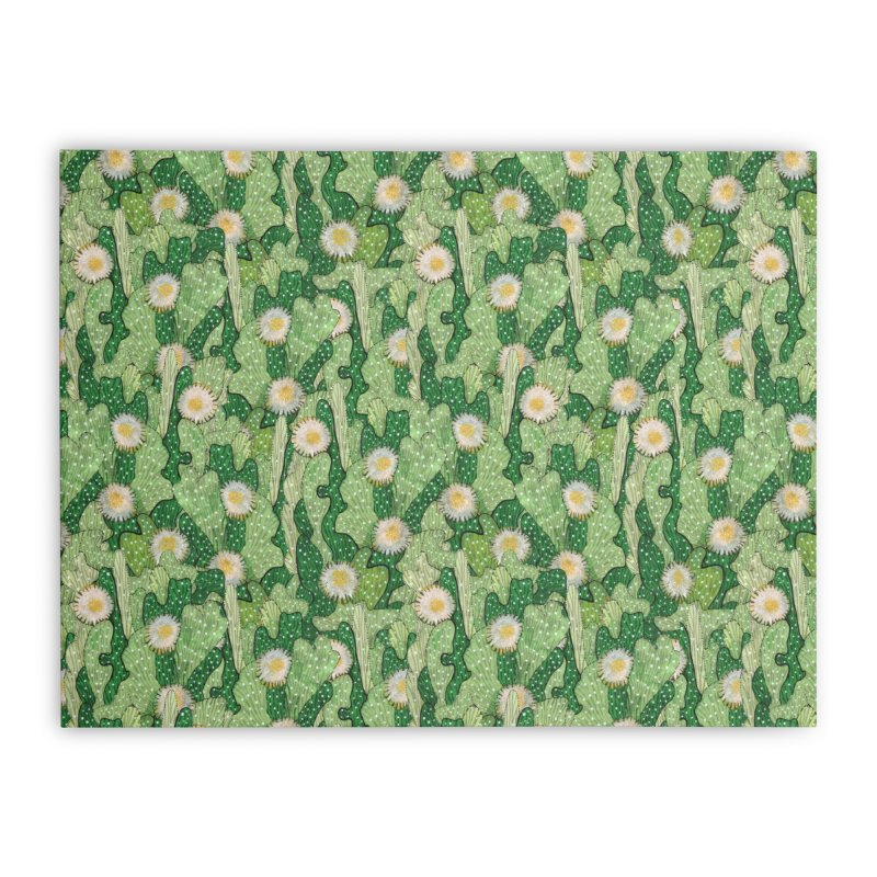 Cacti Camo, Blooming Cactus, Succulent Floral Pattern Home Stretched Canvas by Clipso-Callipso