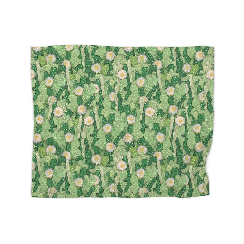 Cacti Camo, Blooming Cactus, Succulent Floral Pattern Home Blanket by Clipso-Callipso