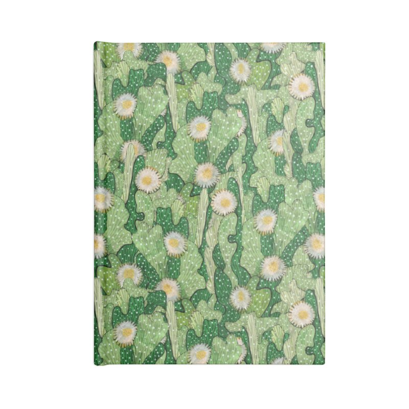 Cacti Camo, Blooming Cactus, Succulent Floral Pattern Accessories Notebook by Clipso-Callipso