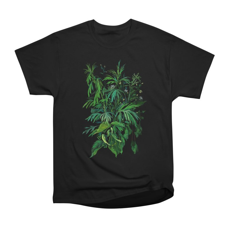 Green & Black, Summer Plants, Floral Art Women's T-Shirt by Clipso-Callipso
