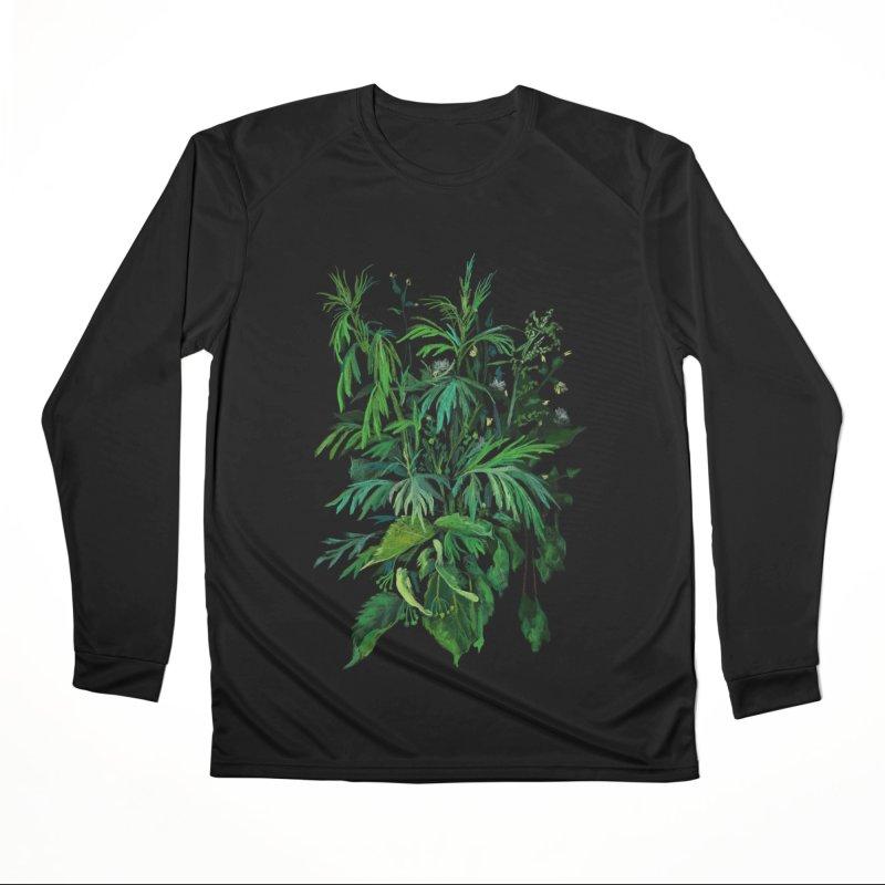 Green & Black, Summer Plants, Floral Art Women's Longsleeve T-Shirt by Clipso-Callipso