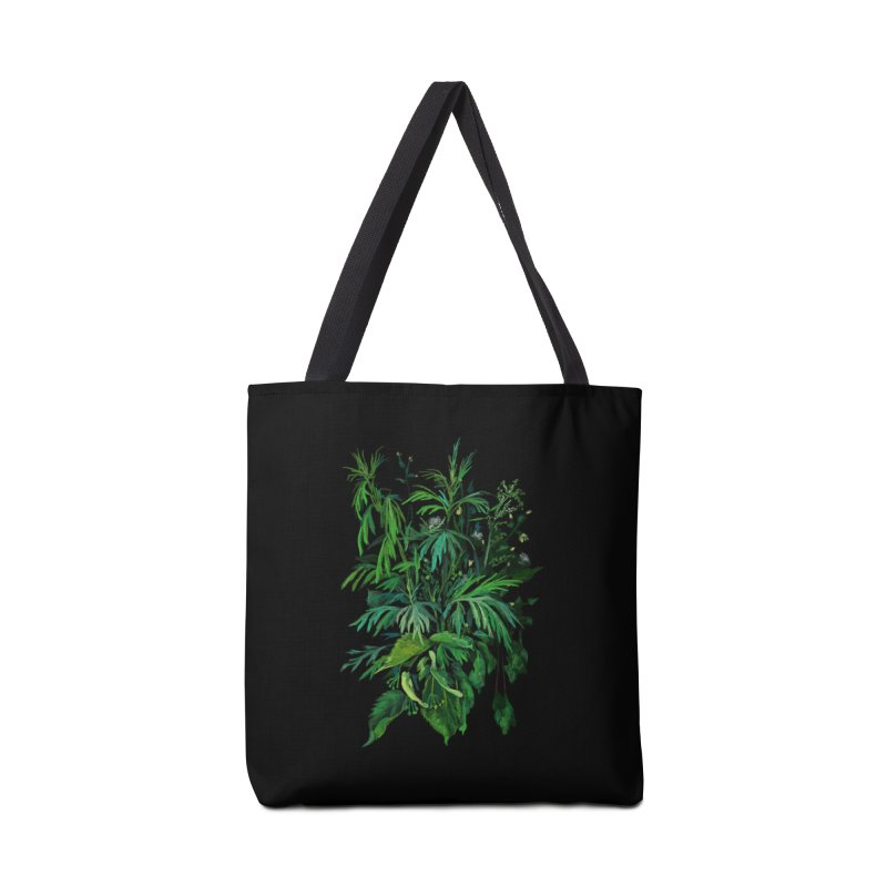 Green & Black, Summer Plants, Floral Art Accessories Bag by Clipso-Callipso