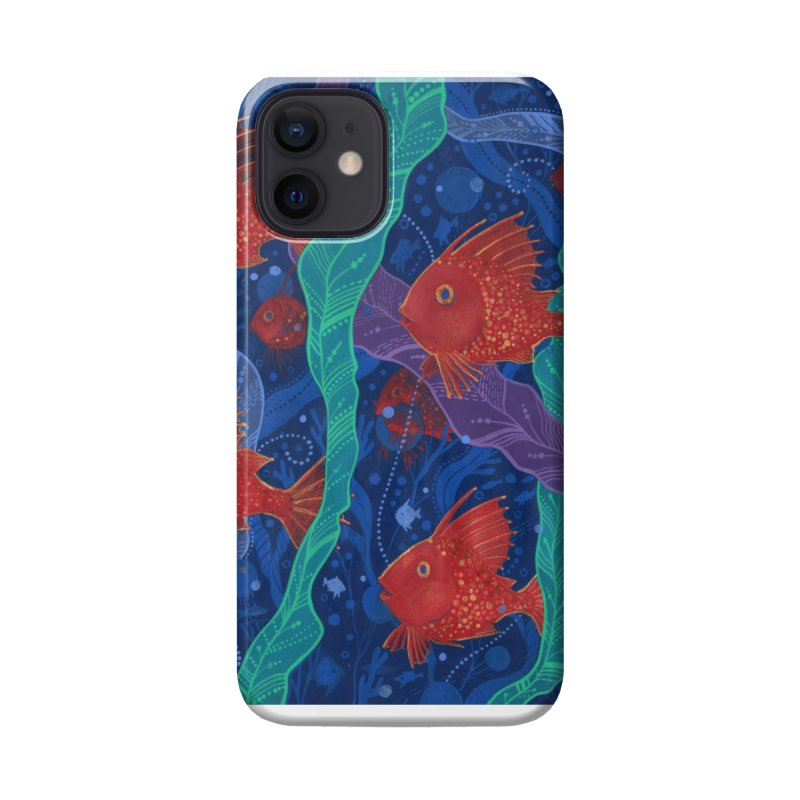 Red Fish, Seaweed, Sea Ocean Animals Underwater World Accessories Phone Case by Clipso-Callipso