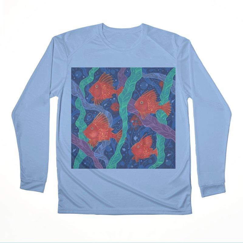 Red Fish, Seaweed, Sea Ocean Animals Underwater World Women's Longsleeve T-Shirt by Clipso-Callipso