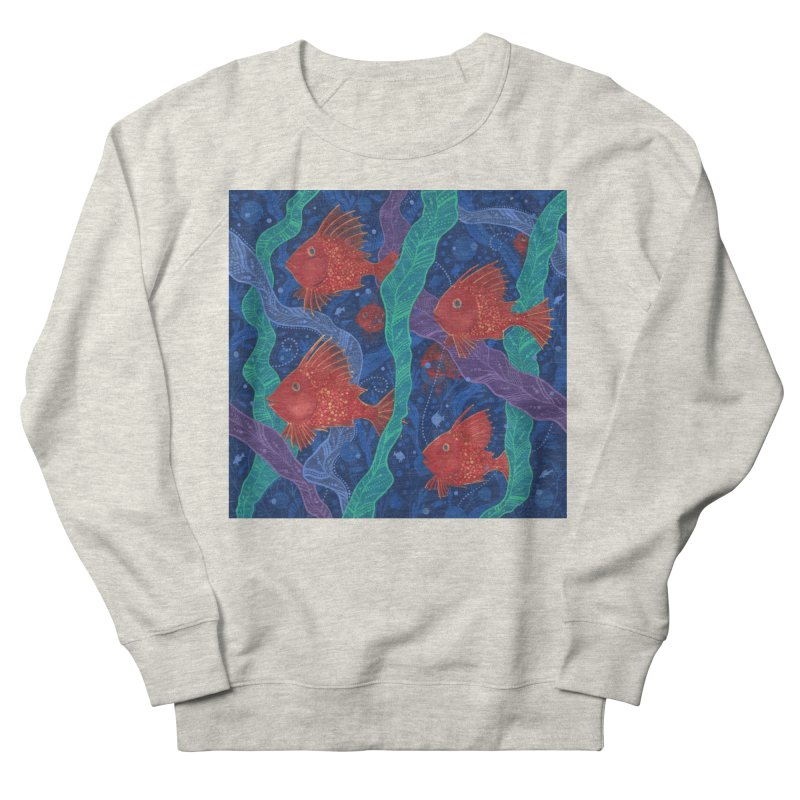 Red Fish, Seaweed, Sea Ocean Animals Underwater World Men's Sweatshirt by Clipso-Callipso
