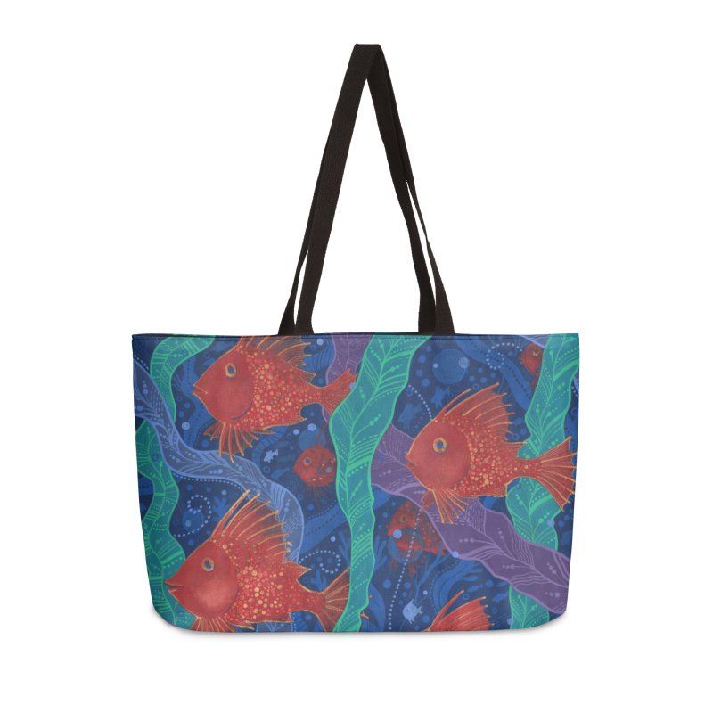 Red Fish, Seaweed, Sea Ocean Animals Underwater World Accessories Bag by Clipso-Callipso