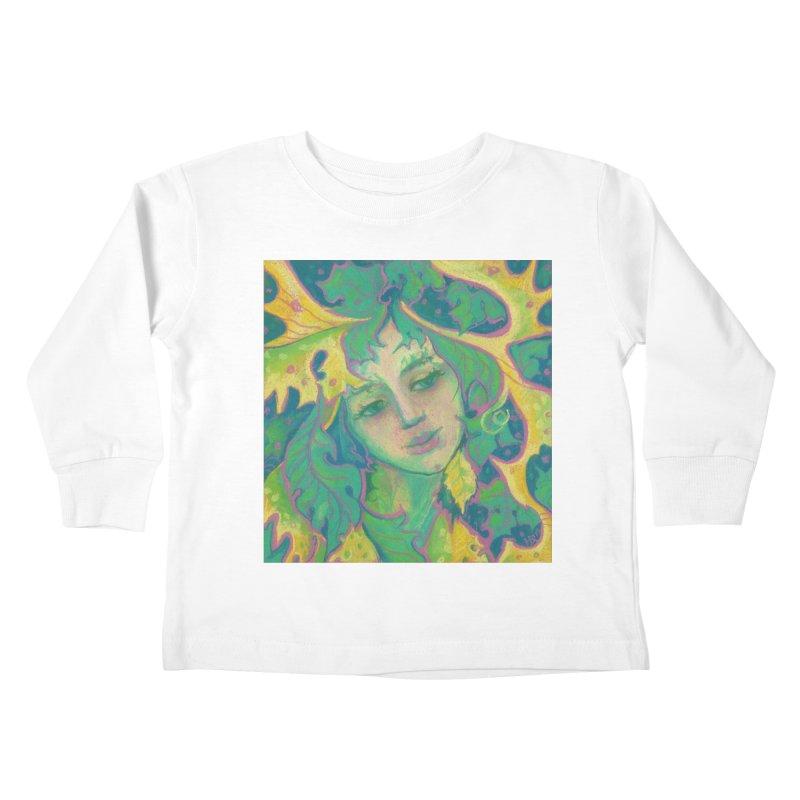 Forest Spirit, Tree Goddess, Fantasy Art Kids Toddler Longsleeve T-Shirt by Clipso-Callipso
