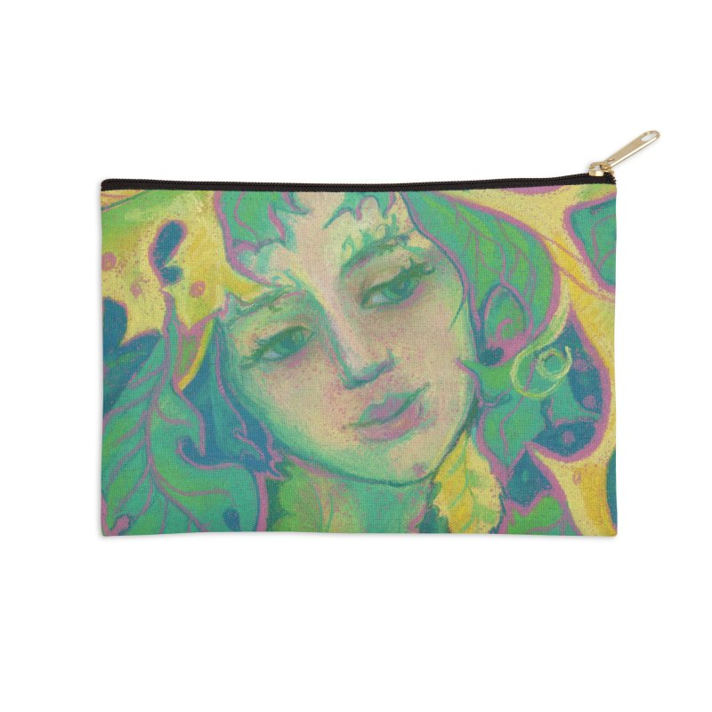 Forest Spirit, Tree Goddess, Fantasy Art Accessories Zip Pouch by Clipso-Callipso