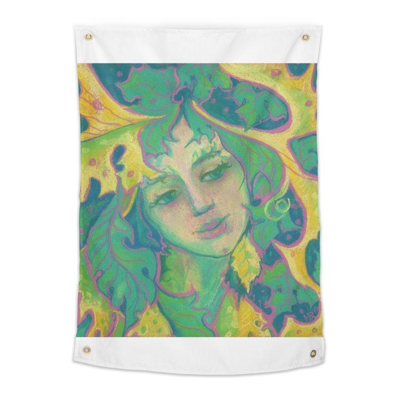 Forest Spirit, Tree Goddess, Fantasy Art Home Tapestry by Clipso-Callipso