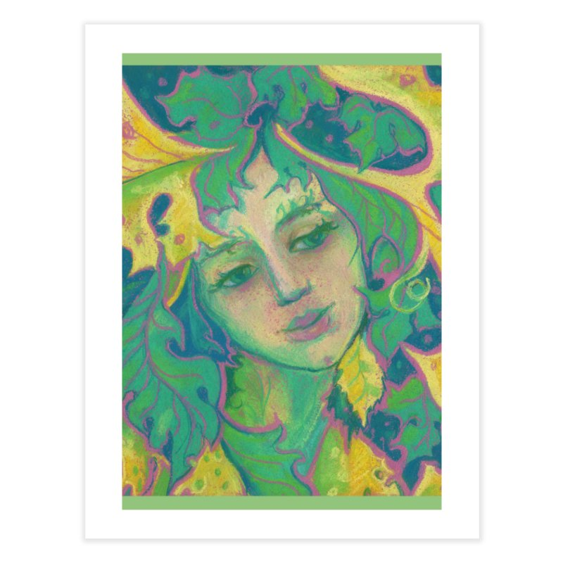 Forest Spirit, Tree Goddess, Fantasy Art Home Fine Art Print by Clipso-Callipso