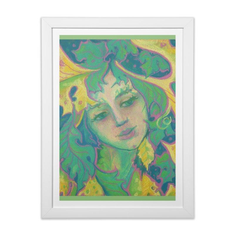 Forest Spirit, Tree Goddess, Fantasy Art Home Framed Fine Art Print by Clipso-Callipso