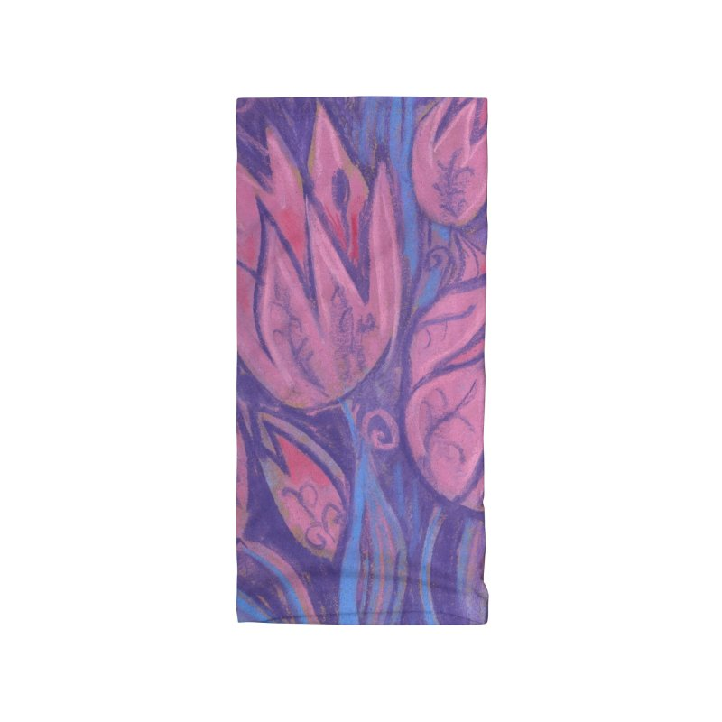 Funky Tulips Floral Art Pastel Painting Pink Violet Accessories Neck Gaiter by Clipso-Callipso