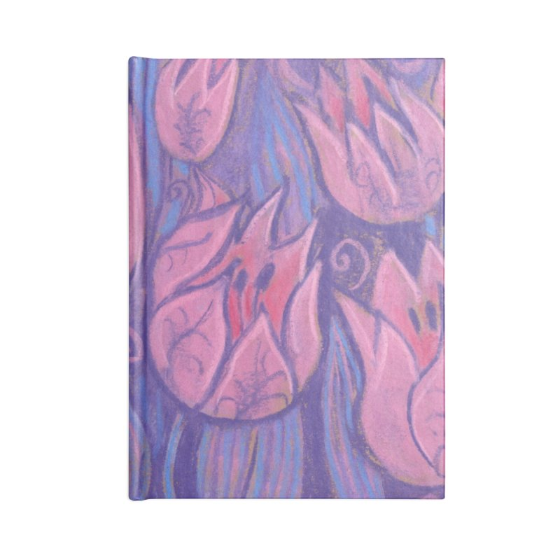Funky Tulips Floral Art Pastel Painting Pink Violet Accessories Notebook by Clipso-Callipso