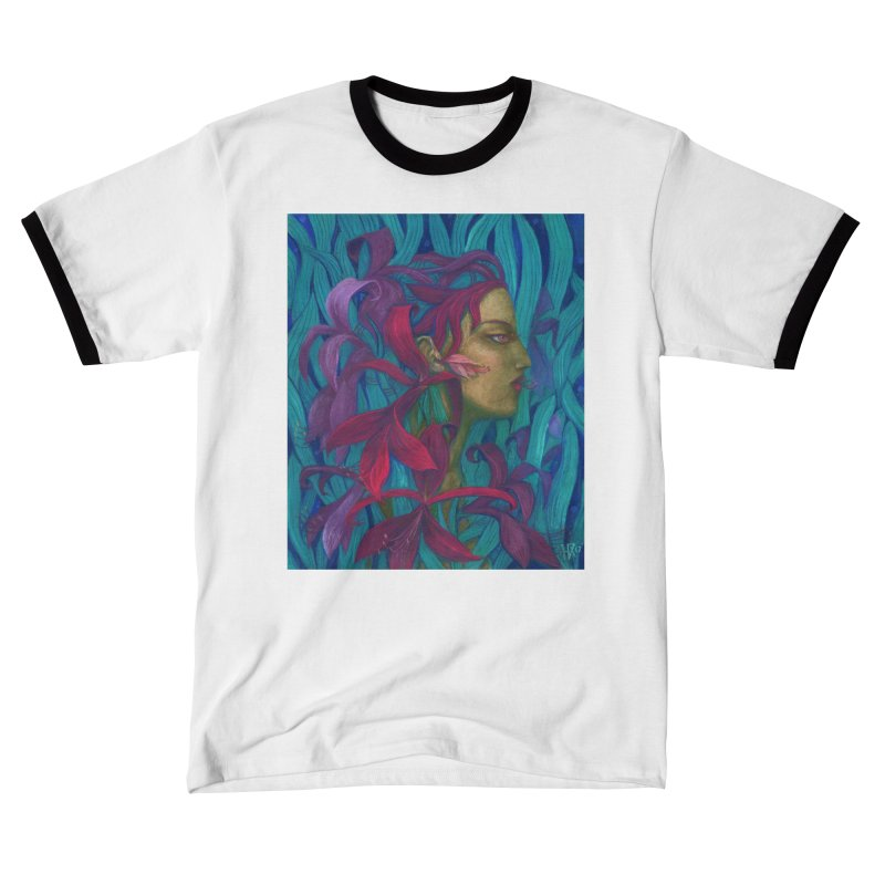 Amaryllis Flower Goddess Fantasy Surreal Painting Men's T-Shirt by Clipso-Callipso