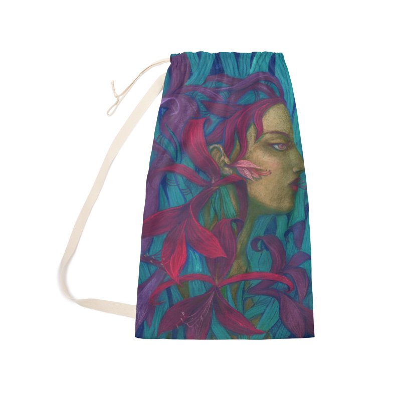 Amaryllis Flower Goddess Fantasy Surreal Painting Accessories Bag by Clipso-Callipso