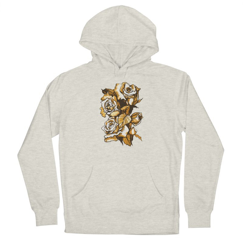 Blooming Roses, Floral Art Ink Markers Sketch Men's Pullover Hoody by Clipso-Callipso