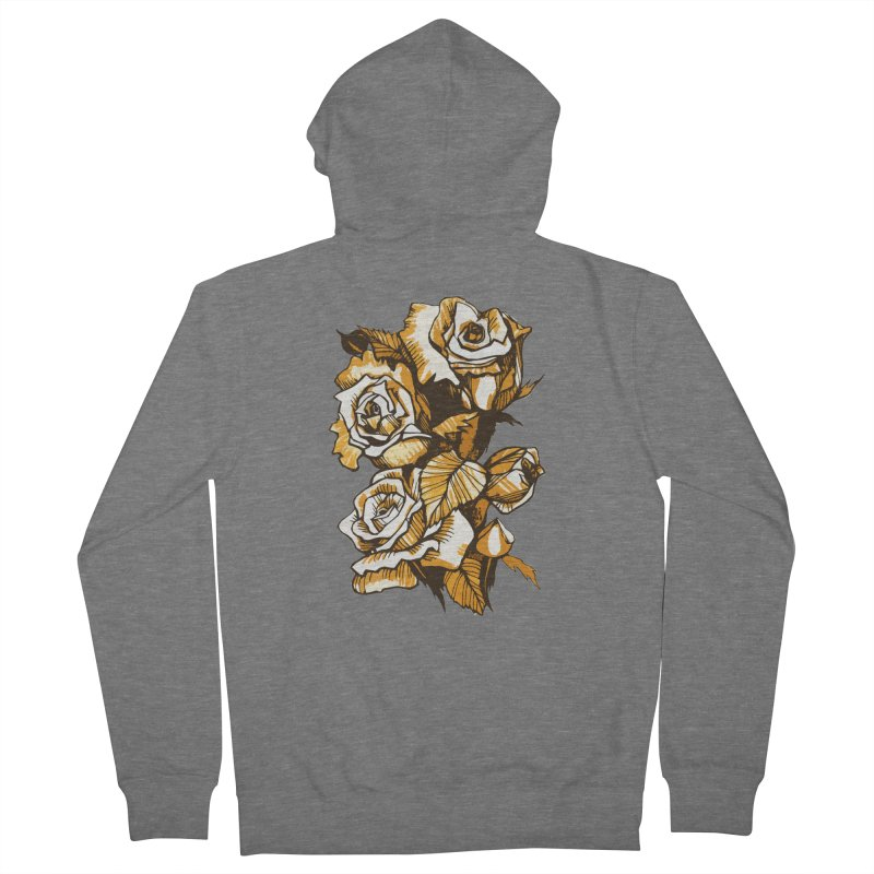 Blooming Roses, Floral Art Ink Markers Sketch Women's Zip-Up Hoody by Clipso-Callipso