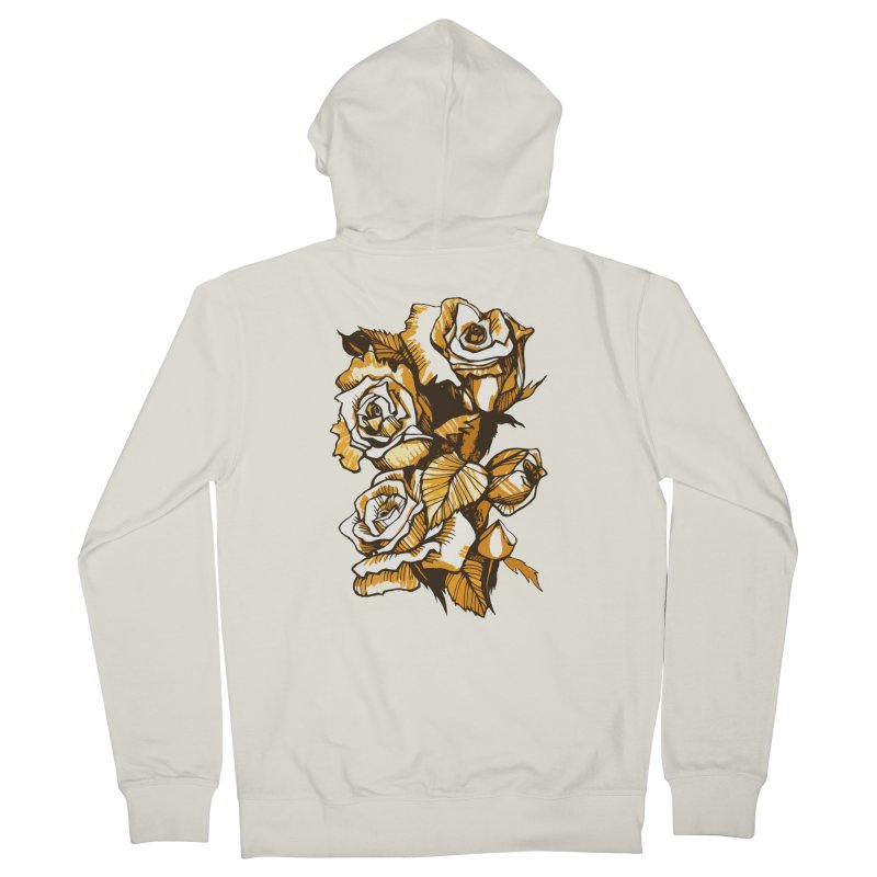 Blooming Roses, Floral Art Ink Markers Sketch Men's Zip-Up Hoody by Clipso-Callipso