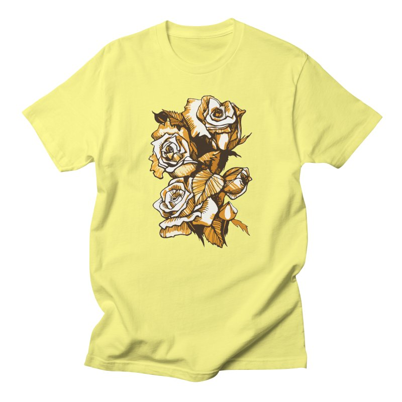 Blooming Roses, Floral Art Ink Markers Sketch Men's T-Shirt by Clipso-Callipso