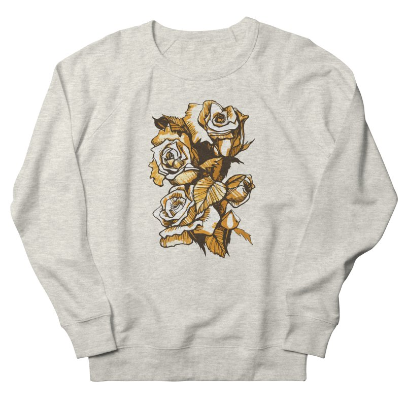 Blooming Roses, Floral Art Ink Markers Sketch Men's Sweatshirt by Clipso-Callipso
