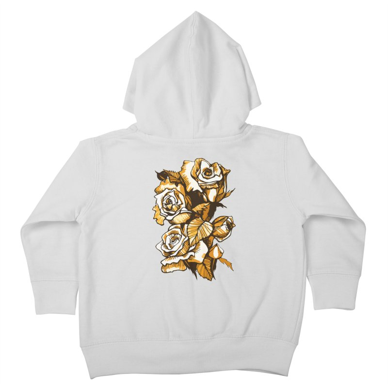 Blooming Roses, Floral Art Ink Markers Sketch Kids Toddler Zip-Up Hoody by Clipso-Callipso