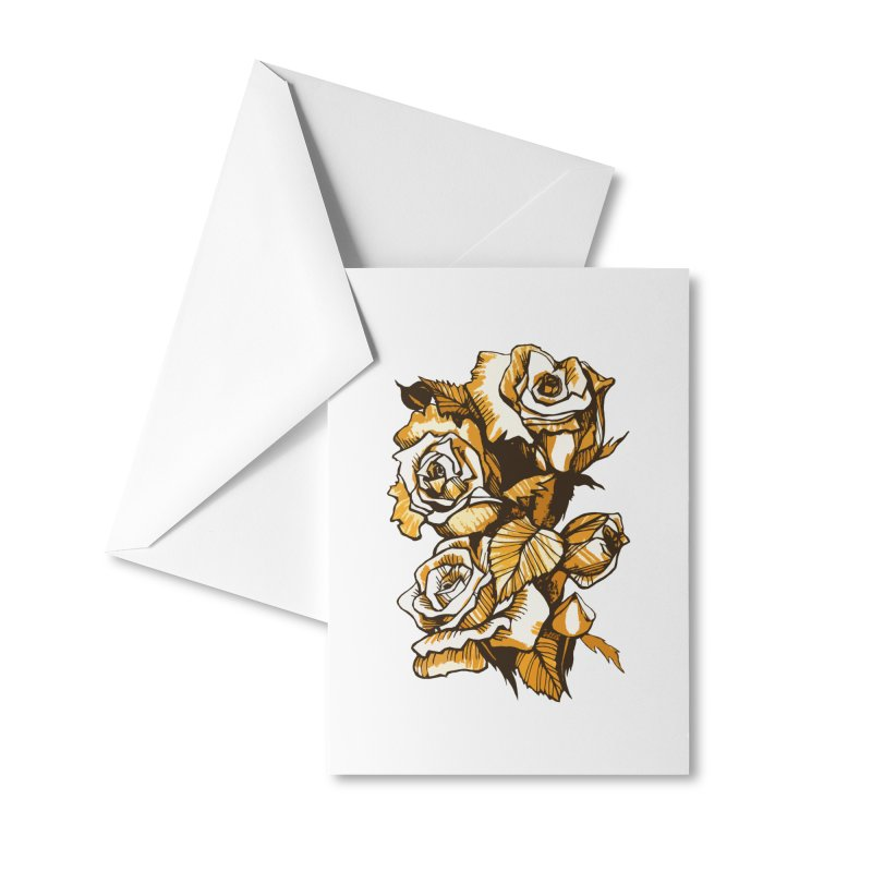 Blooming Roses, Floral Art Ink Markers Sketch Accessories Greeting Card by Clipso-Callipso