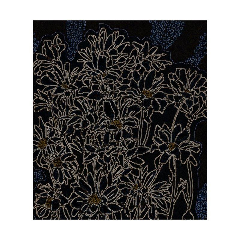 Daisy Chrysanthemum, black Women's Pullover Hoody by Clipso-Callipso
